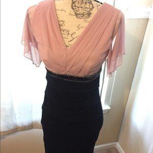 4/$25 Chiffon sleeves Pink and blue dress